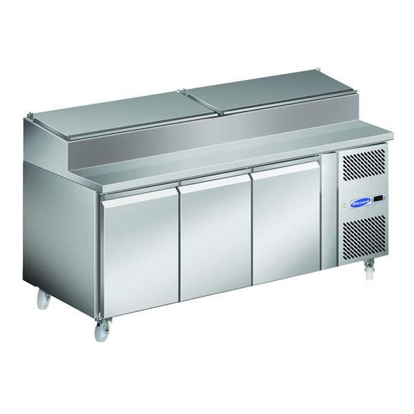 Blizzard HBC3EN 3 Door Refrigerated Prep Counter