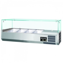 Blizzard TOP1200CR 1.2m Glass Canopy Counter Top Preparation Unit