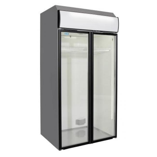 Norpe easycooler 1 7 m double door chiller display for 1 door display chiller