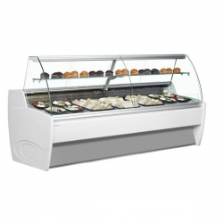 Frilixa Vista 15 1.5m Curved Glass Serve Over Counter