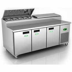 Genfrost GPR3800 3 Door Prep Counter