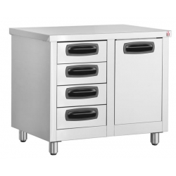 Inomak EA7014L Storage Cupboard with Storage Bin