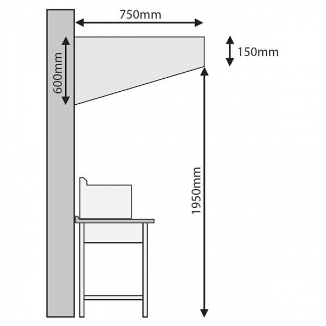 Inomak Snack Hood Dimensions Mesh Filter  sc 1 st  Corr Chilled & Inomak FS10L 1m Snack Exhaust Hood - Commercial Kitchen Extraction ...