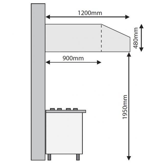 Amazing Mesh Filter Stainless Steel Baffle Filter Inomak Exhaust Hood Dimensions