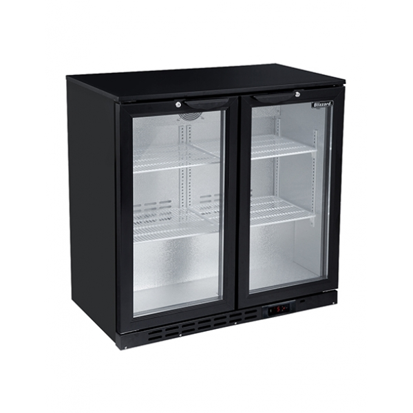 Blizzard LOWBAR2 Low Height Double Door Bottle Cooler