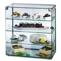 Lincat GC46D 3 Tier 0.6m Glass Display Case With Rear Sliding Doors