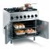 Lincat Opus Gas Oven Range 6 Burner with Open Doors