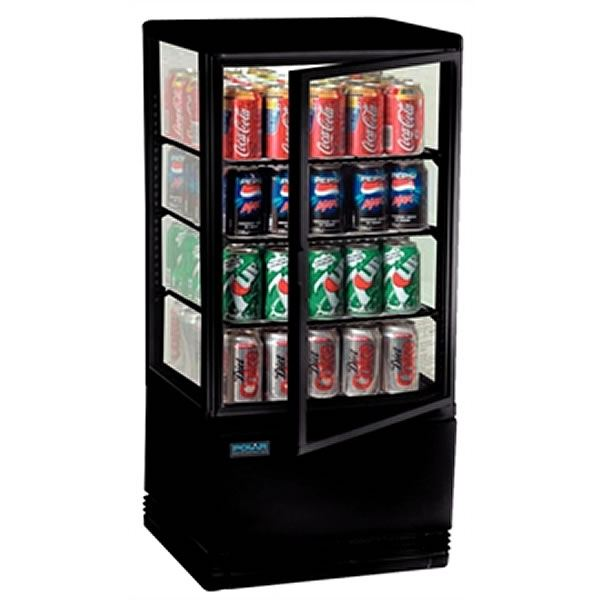 Polar Chilled Display Cabinet Black