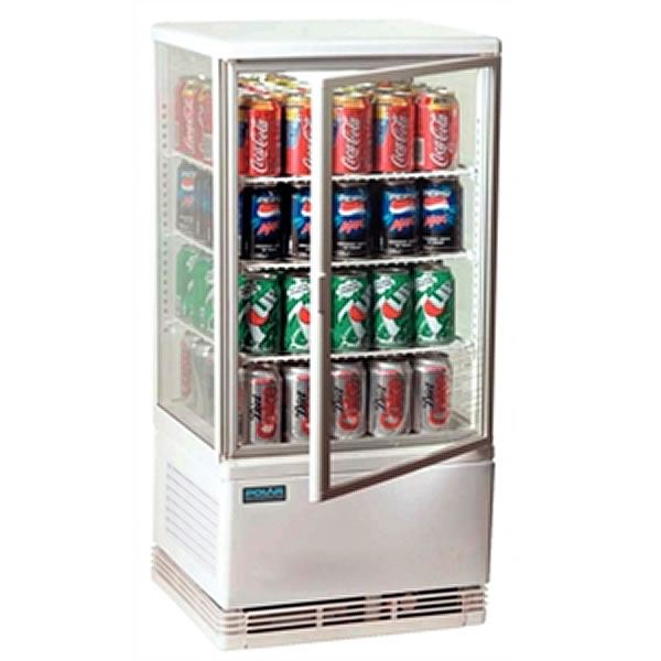 Polar Chilled Display Cabinet White