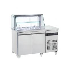 INOMAK ZQV 99 Double Door Refrigerated Saladette Display