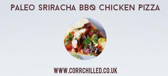 Paleo Sriracha BBQ Chicken Pizza