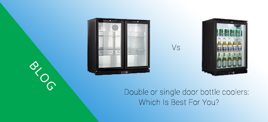 Double or single door bottle coolers: which one is best for you?