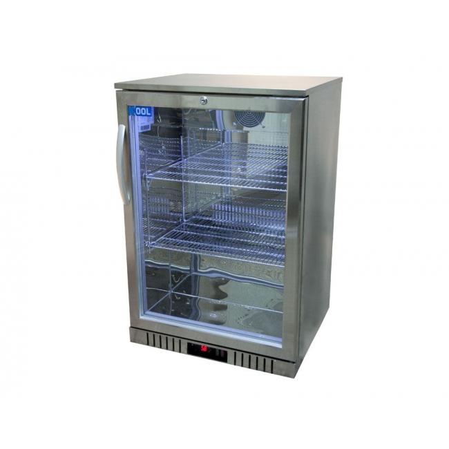 Kool nrlst2 ic130a stainless steel single door bottle for 1 door display chiller