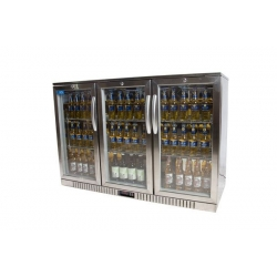 Kool NRLST2-IC320A Stainless Steel Hinged Triple Door Bottle Cooler