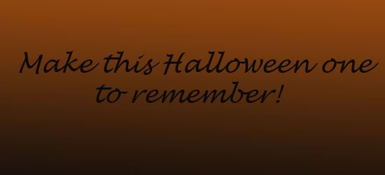 Halloween to Remember!