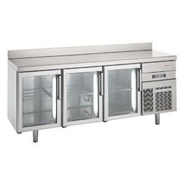 Infrico 700 Series BMGN 2450 CRISTAL Glass Door Fridge Counter