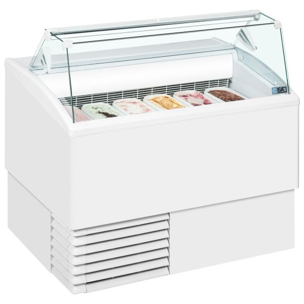 ISA Isetta 6ST Flat Glass Scoop Ice Cream Display Freezer