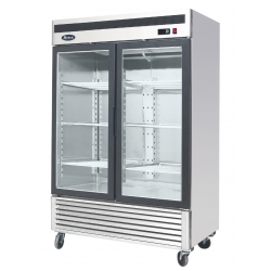 Atosa MCF8707 Double Glass Door Display Fridge