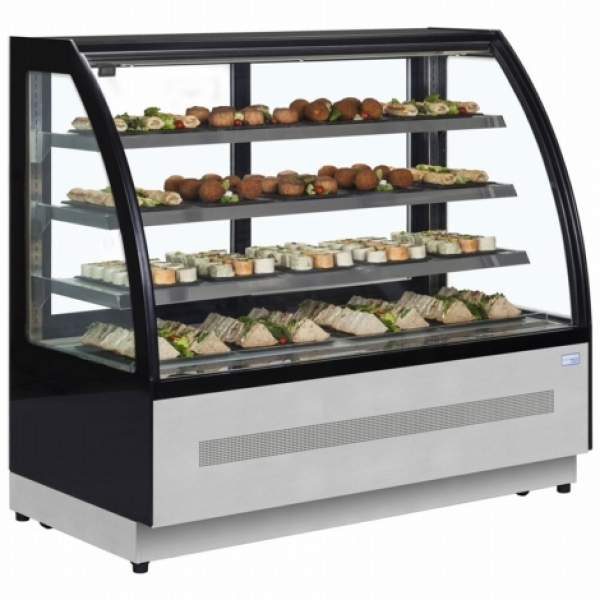 Interlevin LPD1500C 1.5m Chilled Flat Glass Display Cabinet