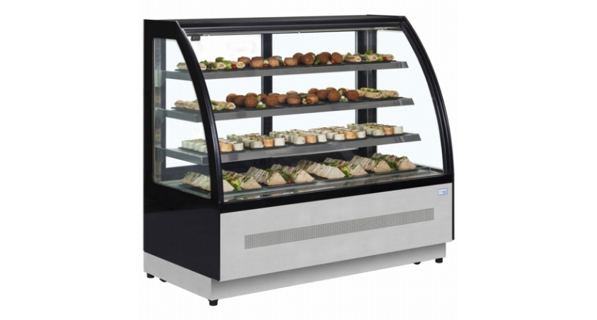 Interlevin LPD1700C 1.7m Chilled Flat Glass Display Cabinet