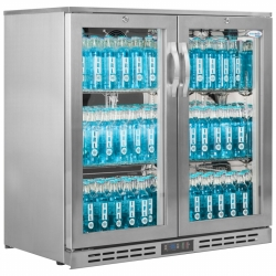 Interlevin GF20H Stainless Steel 2 Door Sub Zero Cooler