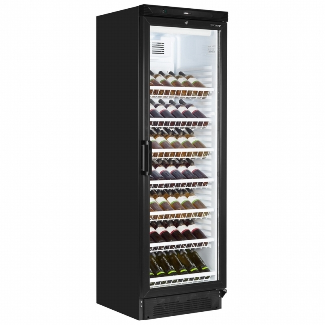 Tefcold Fs1380wb 372 Litre Single Door Upright Wine Cooler Glass