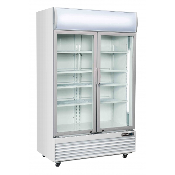 Blizzard GDF1000H Double Glass Door Frozen Food Merchandiser
