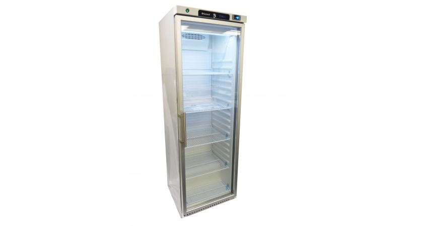 Blizzard HG400WH Glass Door Refrigerator