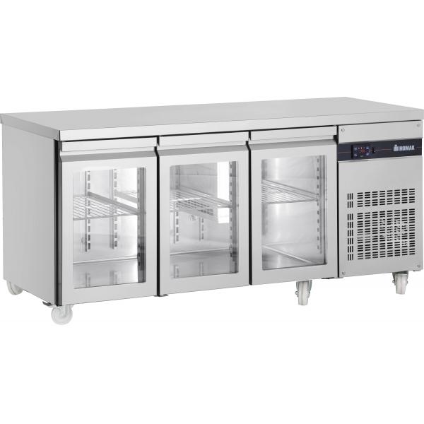 Inomak PN999CR Three Glass Door Fridge Counter