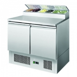 Atosa ESL3832 Two Door Food Prep Counter Fridge