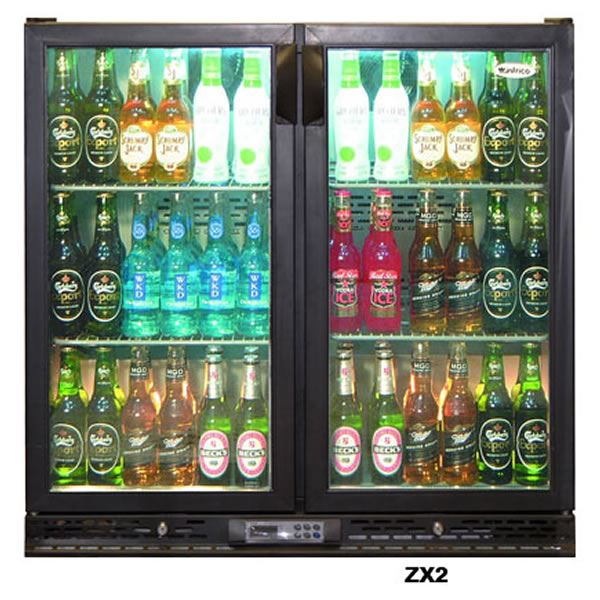 Infrico ZX2S Sliding Double Door Bottle Fridge