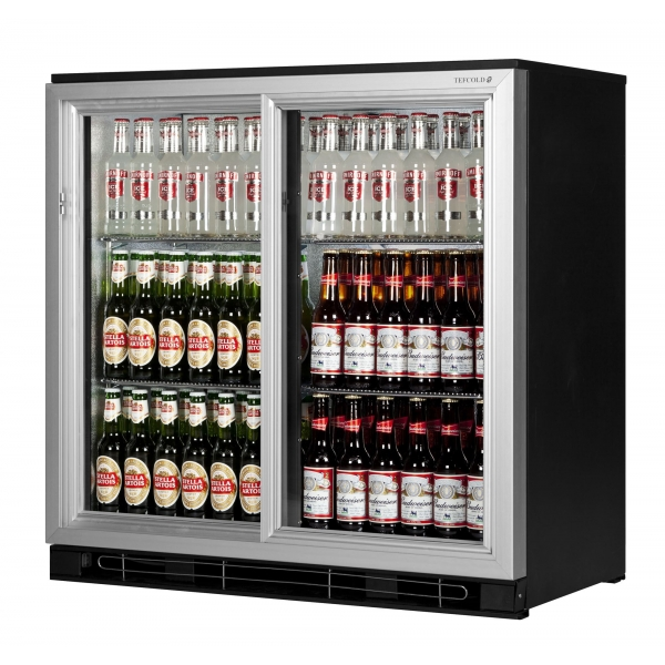 Tefcold BA20 AL 0.9m Double Hinged Door Silver Bottle Cooler