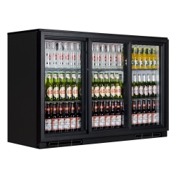 Tefcold BA30S Back Bar Triple Sliding Door Bottle Cooler