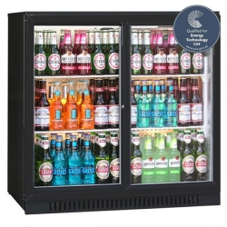 Blizzard BAR2SL Sliding Double Door Bottle Cooler