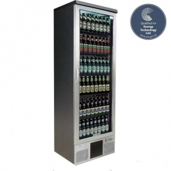 Gamko MG-300GCS Single Door Stainless Steel Upright Bottle Cooler