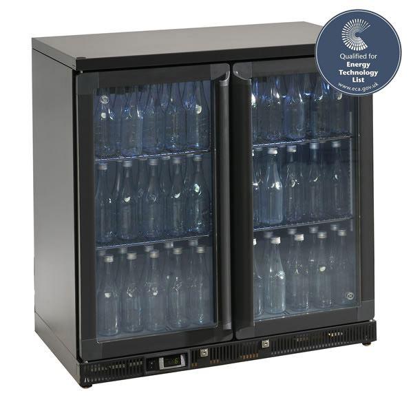 Gamko MG2-250SD 0.9m Wide Double Sliding Door Bottle Cooler