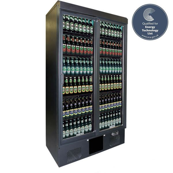 Gamko MG500SD Double Sliding Door Upright Bottle Cooler