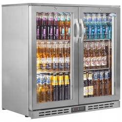 Interlevin PD20H SS Double Door Back Bar Chiller