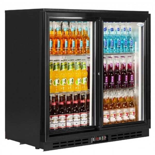 Interlevin PD20S Sliding Double Door Bottle Cooler