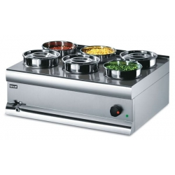 Lincat Silverlink BS7W 6 Pot  Wet Heat Bain Marie