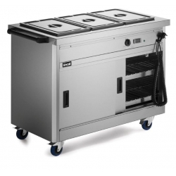 Lincat P6B3 1.1m Panther 670 Series Hot Cupboard with Bain Marie