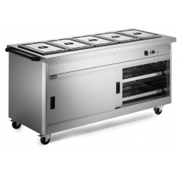 Lincat P8B5 1.8m Panther 800 Series Hot Cupboard with Bain Marie