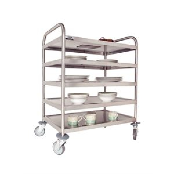 Craven DM341 5 Tier Stainless Steel Clearing Trolley