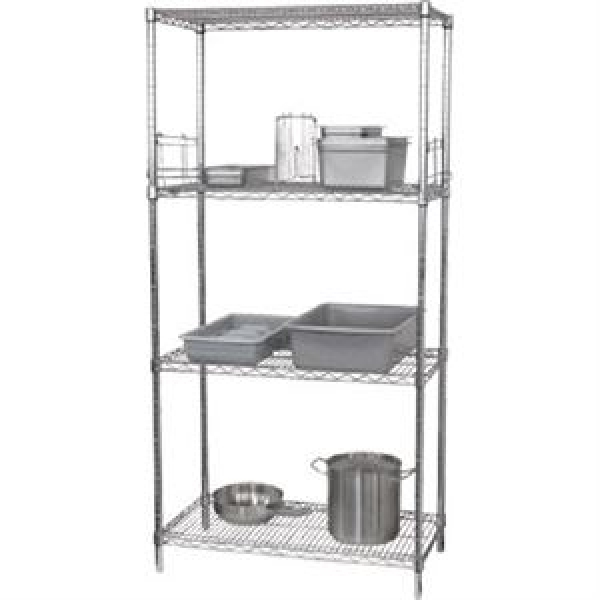 Vogue 4 Tier Wire Shelving Kit