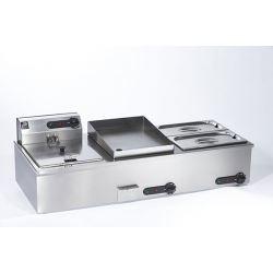 Parry 1952A Counter Top Combination Fryer Griddle & Bain Marie