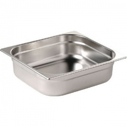 Vogue Stainless Steel 1/2 One Half Size 20mm Deep Gastonorm Pan
