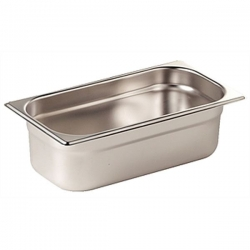 Vogue Stainless Steel 1/3 One Third Size 100mm Deep Gastronorm Pan