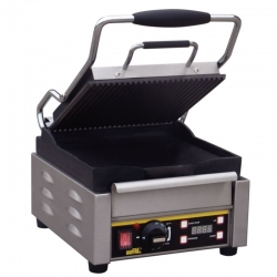 Buffalo L511 Ribbed/Flat Single Contact Grill