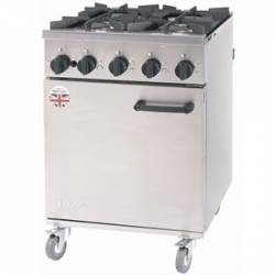 Burco Titan RG60NG 4 Burner Natural Gas Range
