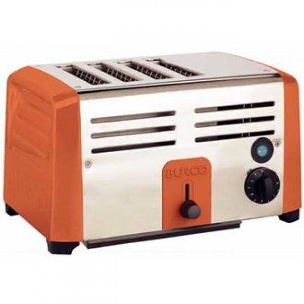 Burco Red Commercial 4 Slot Toaster